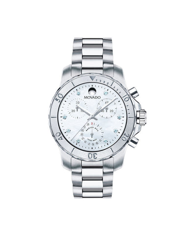 Movado Women's Series 800 Chronograph Watch, 35 mm Performance Steel 2600128 - Arnik Jewellers