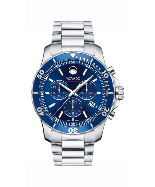 Movado Men's Series 800 Chronograph Watch, 42 mm Performance Steel 2600141 - Arnik Jewellers