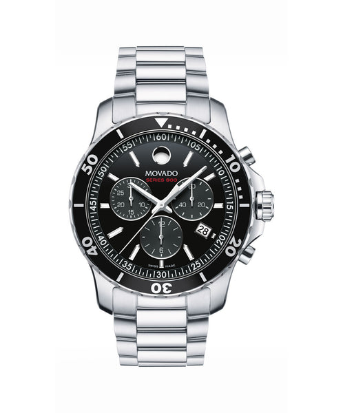 Movado Men's Series 800 Chronograph Watch, 42 mm Performance Steel 2600142 - Arnik Jewellers