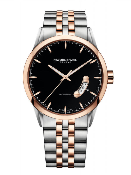 Raymond Weil Freelancer Automatic 42mm Stainless Steel & Rose Gold PVD 2730-SP5-20011 - Arnik Jewellers