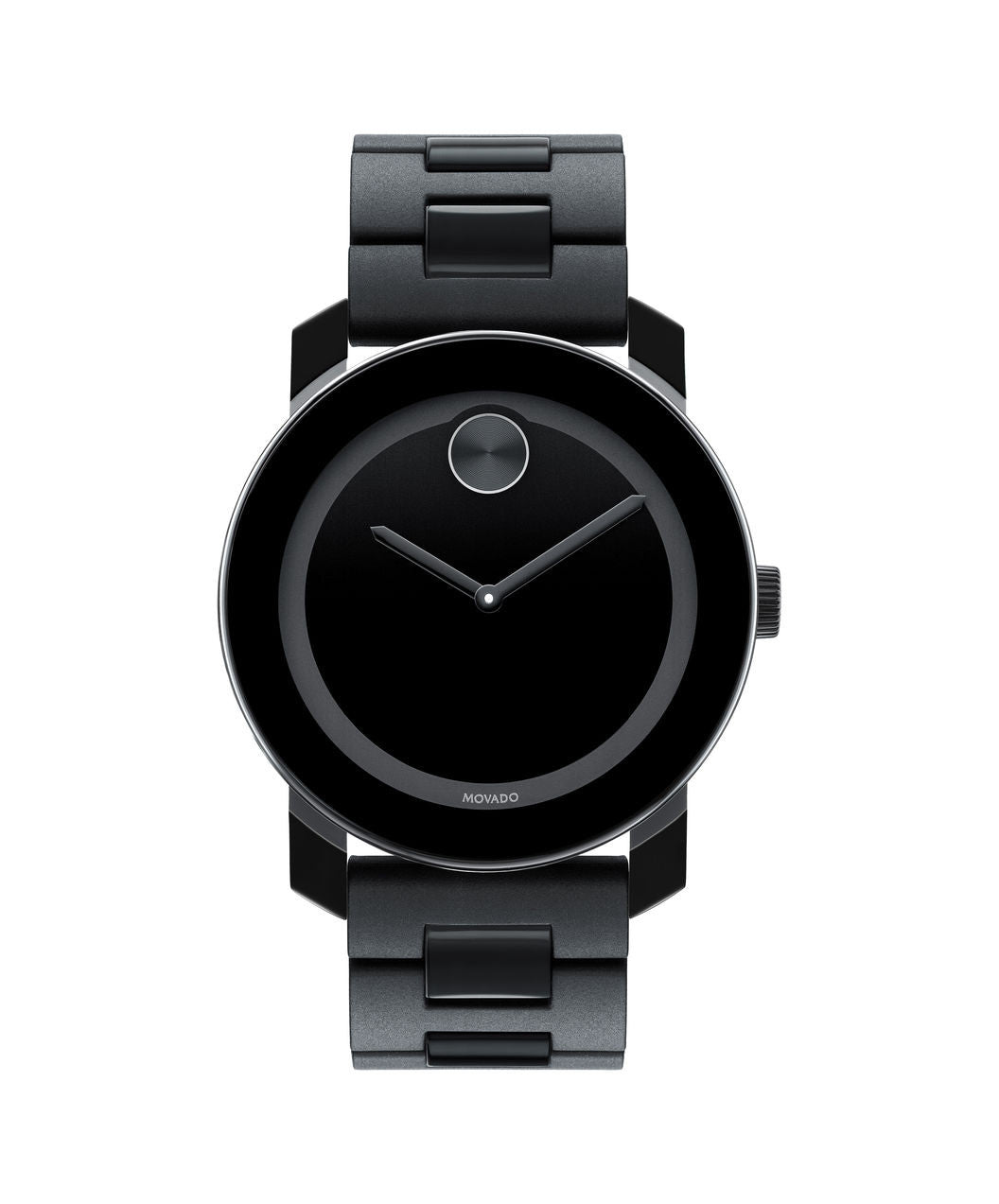 Large Movado BOLD Watch, 42 mm Black TR90 Composite Material and Stainless Steel 3600047 - Arnik Jewellers