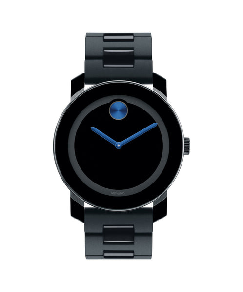 Large Movado BOLD Watch, 42 mm Black TR90 Composite Material and Stainless Steel 3600099 - Arnik Jewellers