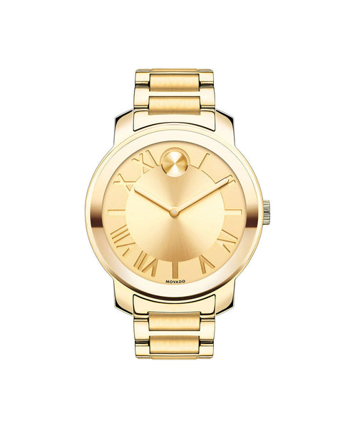 Midsize Movado BOLD Luxe watch, 39 mm Yellow Gold Ion-Plated Stainless Steel 3600197- Arnik Jewellers