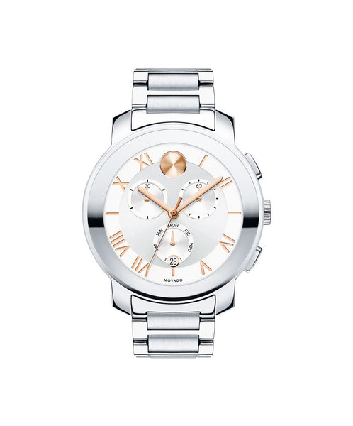 Large Movado BOLD Luxe Chronograph Watch, 40 mm Stainless Steel 3600205 - Arnik Jewellers