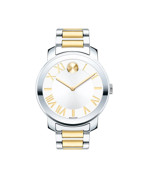 Midsize Movado BOLD Luxe watch, 39 mm Two-Tone Stainless Steel 3600208- Arnik Jewellers
