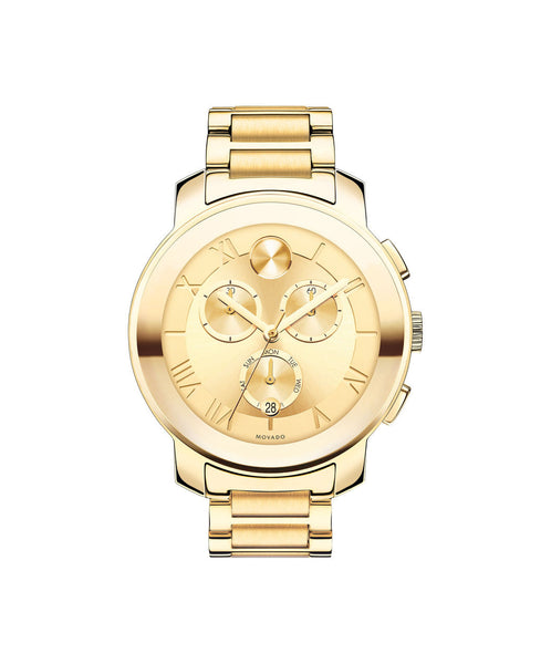 Large Movado BOLD Luxe Chronograph Watch, 40 mm Yellow Gold Ion-Plated Stainless Steel 3600209 - Arnik Jewellers