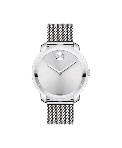 Midsize Movado BOLD Watch, Thin 36 mm Stainless Steel with Mesh-Link Bracelet 3600241 - Arnik Jewellers