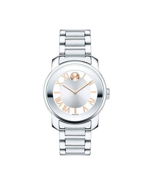 Midsize Movado BOLD Luxe Watch, 32 mm Stainless Steel 3600244 - Arnik Jewellers