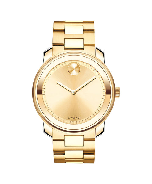 Large Movado BOLD watch, 42.5 mm Yellow Gold Ion-Plated Stainless Steel 3600258 - Arnik Jewellers