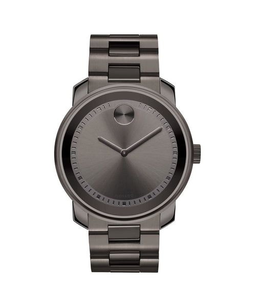 Large Movado BOLD watch, 42.5 mm Gunmetal Gray Ion-Plated Stainless Steel 3600259 - Arnik Jewellers