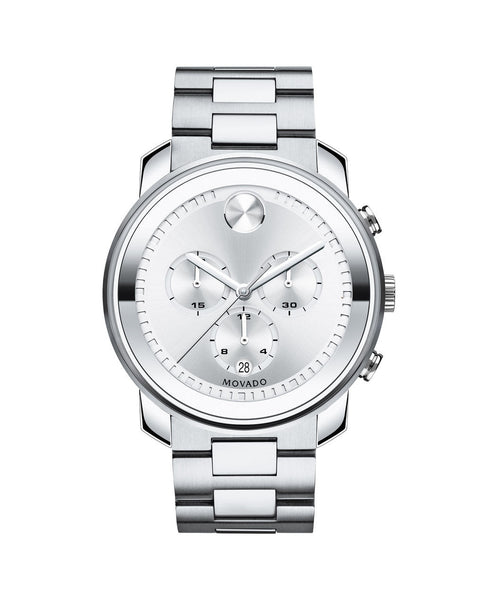 Large Movado BOLD Chronograph Watch, 44 mm Stainless Steel 3600276 - Arnik Jewellers