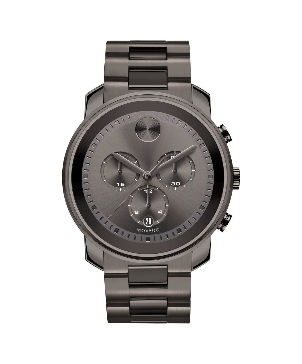 Large Movado BOLD Chronograph Watch, 44 mm Gunmetal Gray Ion-Plated Stainless Steel 3600277 - Arnik Jewellers