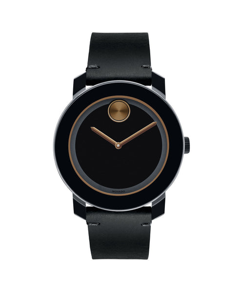 Large Movado BOLD Watch, 42 mm Black TR90 Composite Material and Stainless Steel 3600297 - Arnik Jewellers