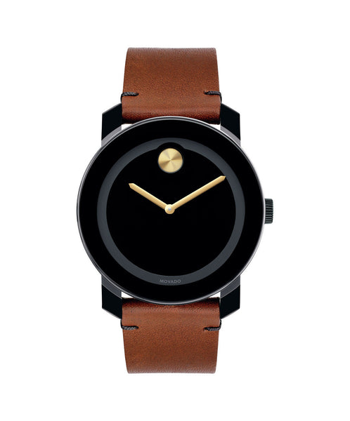 Large Movado BOLD Watch, 42 mm Black TR90 Composite Material and Stainless Steel 3600305 - Arnik Jewellers