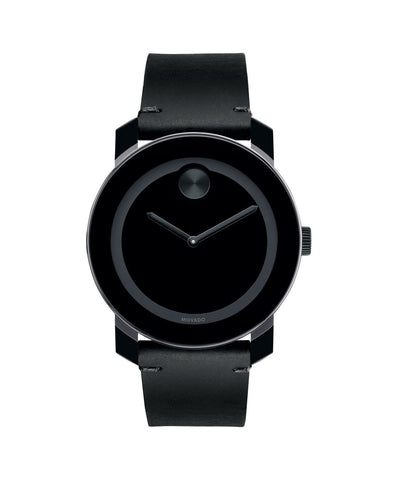 Large Movado BOLD Watch, 42 mm Black TR90 Composite Material and Stainless Steel 3600306 - Arnik Jewellers