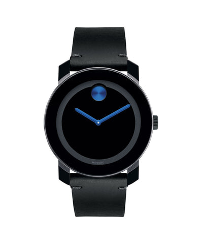Large Movado BOLD Watch, 42 mm Black TR90 Composite Material and Stainless Steel 3600307 - Arnik Jewellers