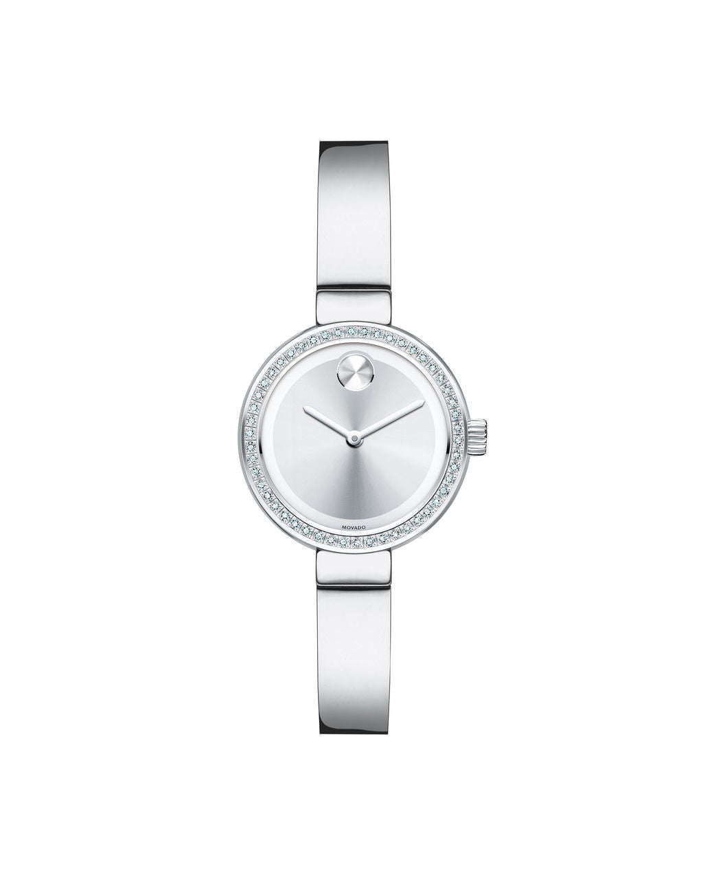 Small Movado BOLD Diamond watch, 25 mm Stainless Steel with 50 Diamonds 3600321 - Arnik Jewellers