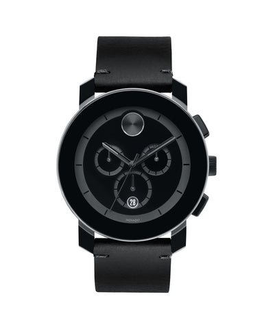 Large Movado BOLD Chronograph Watch, 43.5 mm Black TR90 Composite Material and Stainless Steel 3600337 - Arnik Jewellers