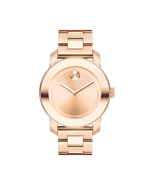 Midsize Movado BOLD watch, 36 mm Rose Gold Ion-Plated Stainless Steel 3600342 - Arnik Jewellers