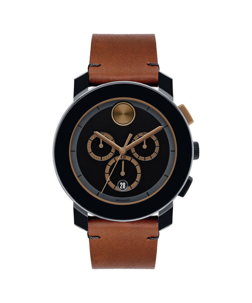 Large Movado BOLD Chronograph, 43.5 mm Black TR90 Composite Material & Stainless Steel 3600348 - Arnik Jewellers