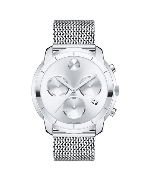 Large Movado BOLD Chronograph watch, Thin 44 mm Stainless Steel 3600371 - Arnik Jewellers