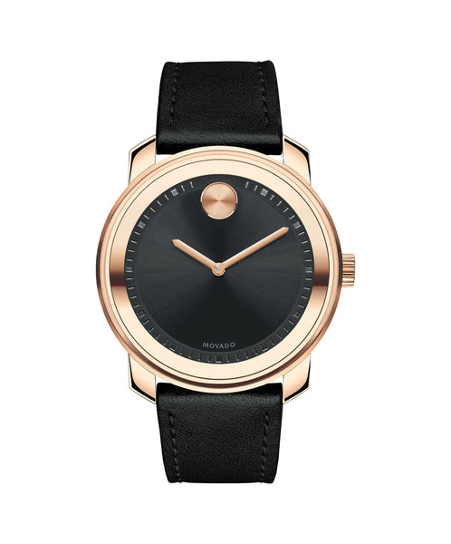 Large Movado BOLD Watch, 42.5 mm Rose Gold Ion-Plated Stainless Steel 3600376 - Arnik Jewellers
