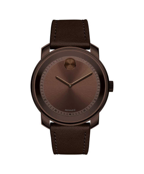 Large Movado BOLD Watch, 42.5 mm Brown Ion-Plated Stainless Steel 3600377 - Arnik Jewellers