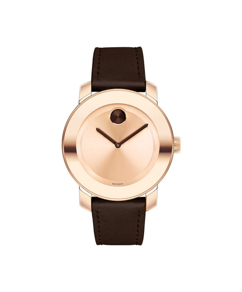 Mid-Size Movado BOLD Watch, 36 mm Rose Gold Ion-Plated Stainless Steel 3600380 - Arnik Jewellers