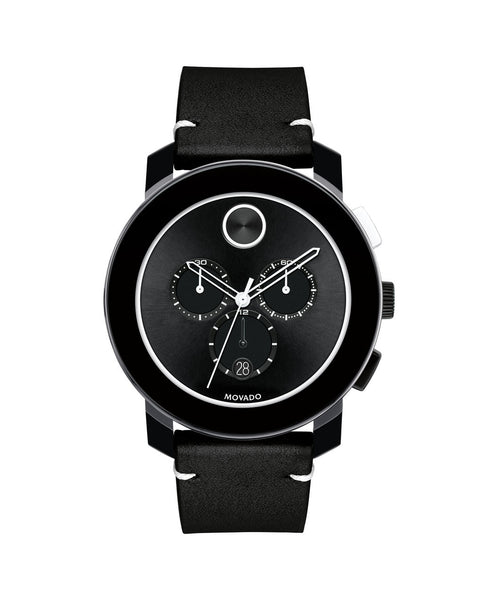 Large Movado BOLD Chronograph, 44 mm Black TR90 Composite Material & Stainless Steel 3600386 - Arnik Jewellers