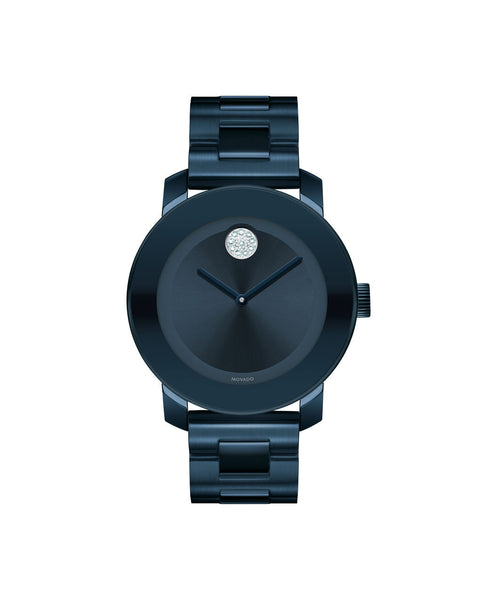 Midsize Movado BOLD Watch, 36 mm Ink Blue Ion Plated Stainless Steel 3600388 - Arnik Jewellers