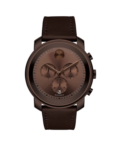 Large Movado BOLD Chronograph, 44 mm Brown Ion-Plated Stainless Steel 3600420 - Arnik Jewellers