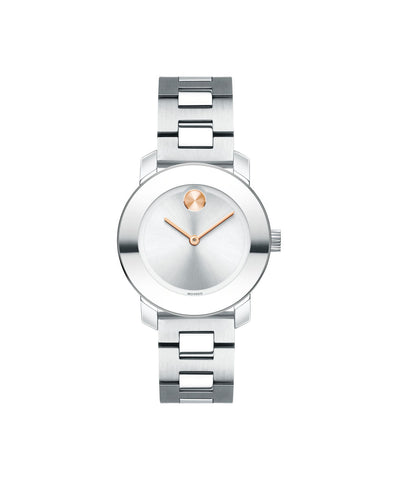 Smaller Mid-Size Movado BOLD Watch, 30 mm Stainless Steel 3600433 - Arnik Jewellers