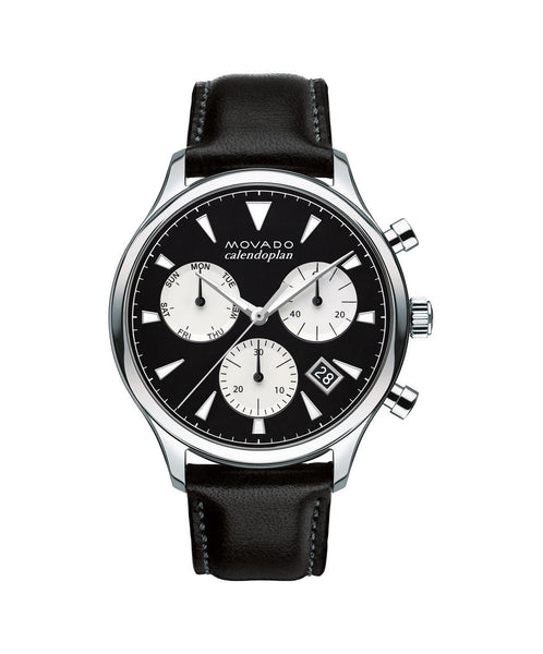 Movado Heritage Series Calendoplan Chronograph Watch, 43 mm Stainless Steel 3650005 - Arnik Jewellers