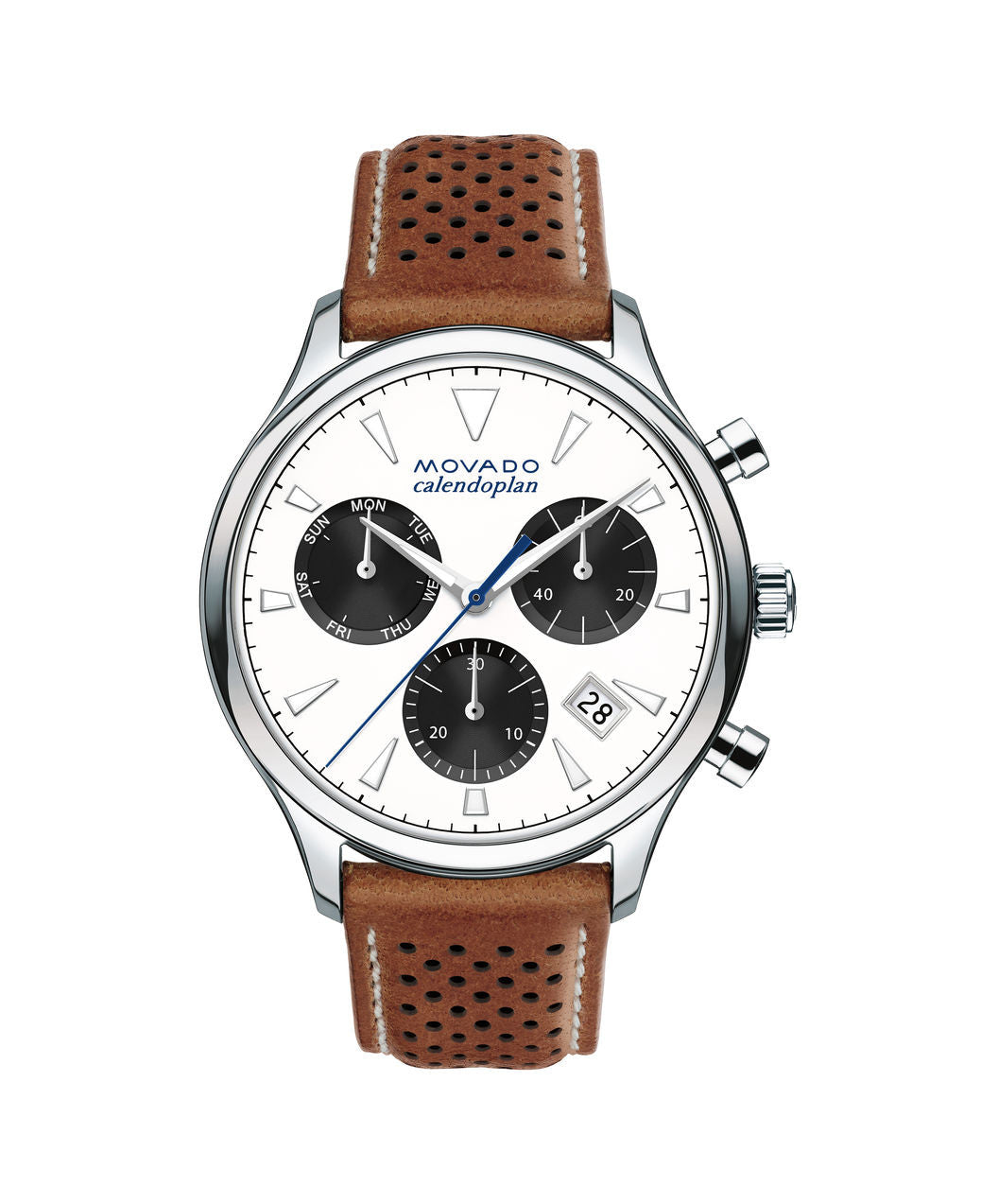 Movado Heritage Series Calendoplan Chronograph Watch, 43 mm Yellow Gold Ion-Plated Stainless Steel 3650008 - Arnik Jewellers