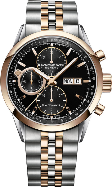 Raymond Weil Freelancer Automatic Chronograph 42mm Stainless Steel & Rose Gold PVD 7730SP520111 - Arnik Jewellers