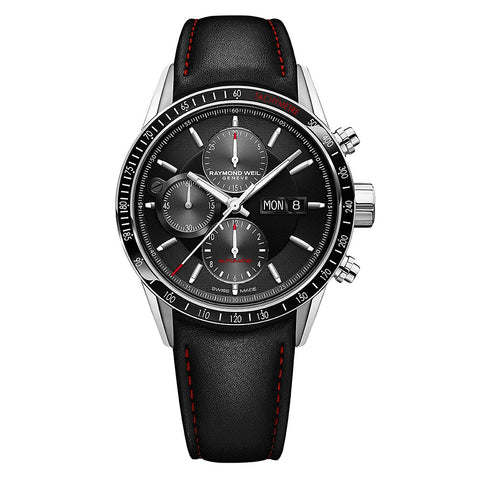 Raymond Weil Freelancer Automatic Chronograph 42mm Stainless Steel Black Dial 7731-SC1-20621 - Arnik Jewellers