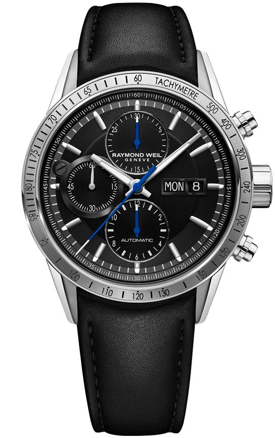 Raymond Weil Freelancer Automatic Chronograph 42mm Stainless Steel Black Dial 7731-STC-20021 - Arnik Jewellers