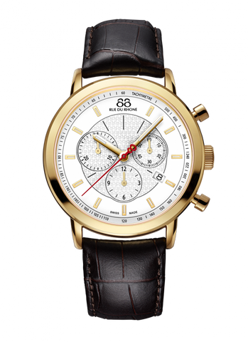 88 Rue Du Rhone Double 8 Origin 42mm Quartz Chronograph 87WA120045 - Arnik Jewellers