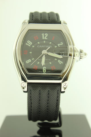 Cartier Roadster Automatic 2510 Stainless Steel Black Dial - Arnik Jewellers