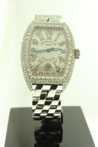 Franck Muller Conquistador Diamond Case Stainless Steel Automatic 8005 SC- Arnik Jewellers