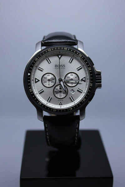 Hugo Boss Chronograph Silver Dial Gents Watch - Arnik Jewellers