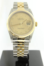Load image into Gallery viewer, Rolex Datejust 18K Yellow Gold & Stainless Steel Jubilee Champagne Roman Dial 36mm 16233 - Arnik Jewellers
