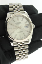 Load image into Gallery viewer, Rolex Datejust 41 Stainless Steel Silver Dial White Gold Fluted Bezel Jubilee 126334 - Arnik Jewellers