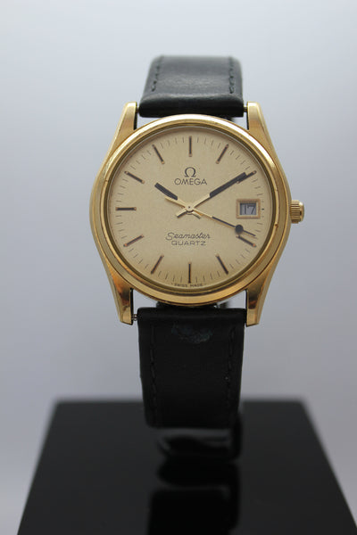 Omega Seamaster Cal.1342 Gold Plated Mens Quartz Watch - Arnik Jewellers