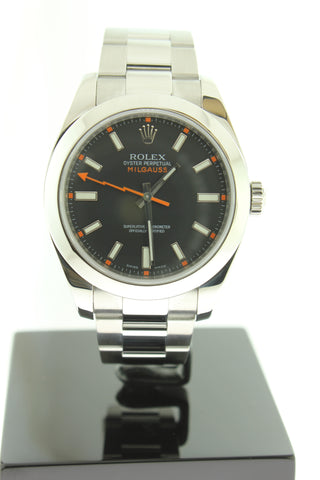 Rolex Milgauss 116400 Automatic Black Dial 40mm Stainless Steel - Arnik Jewellers