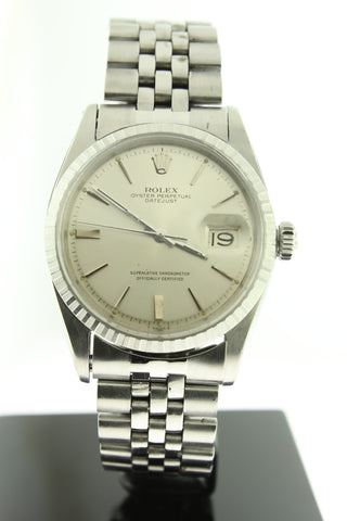 Rolex Datejust 36mm Stainless Steel Silver Dial 1603 - Arnik Jewellers