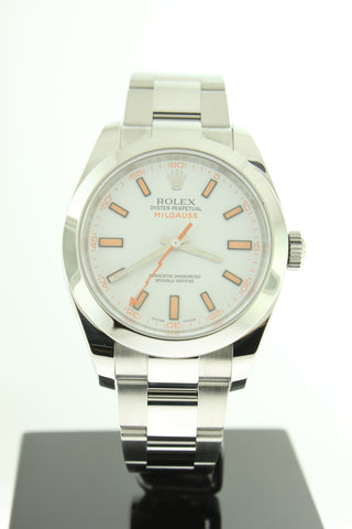 Rolex Milgauss 116400 Automatic White Dial 40mm Stainless Steel - Arnik Jewellers