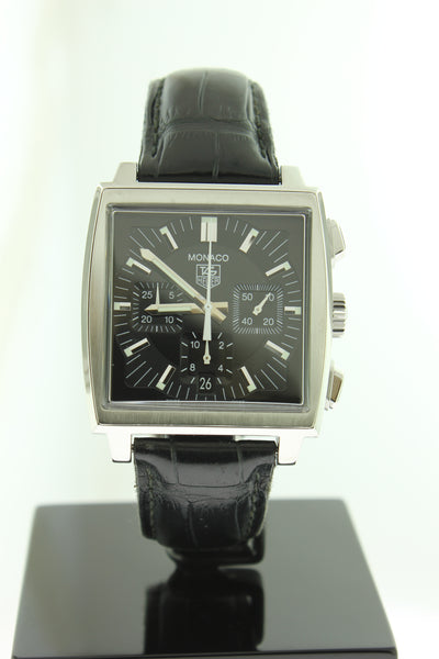 Tag Heuer Monaco Automatic Chronograph CW2111-0 Black Dial 38mm - Arnik Jewellers