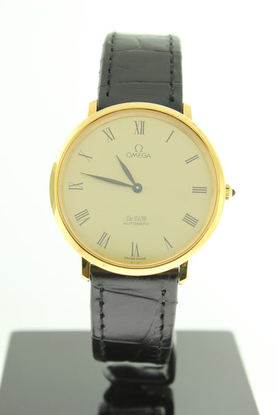 Omega DeVille Automatic Gold Roman Dial 36mm 151.0039 - Arnik Jewellers