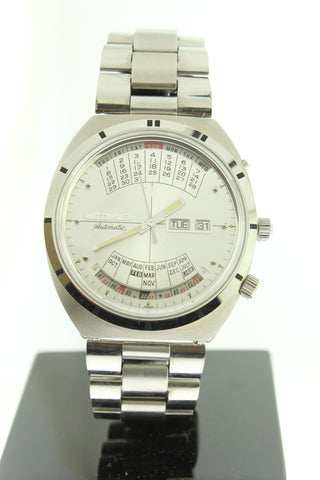 Wittnauer 2000 Automatic Perpetual Calendar Stainless Steel Silver Dial - Arnik Jewellers